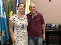 Presidente da Câmara recebe gerente regional do setor público do Banco do Brasil