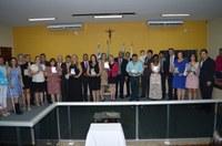 Professores são homenageados em sessão solene